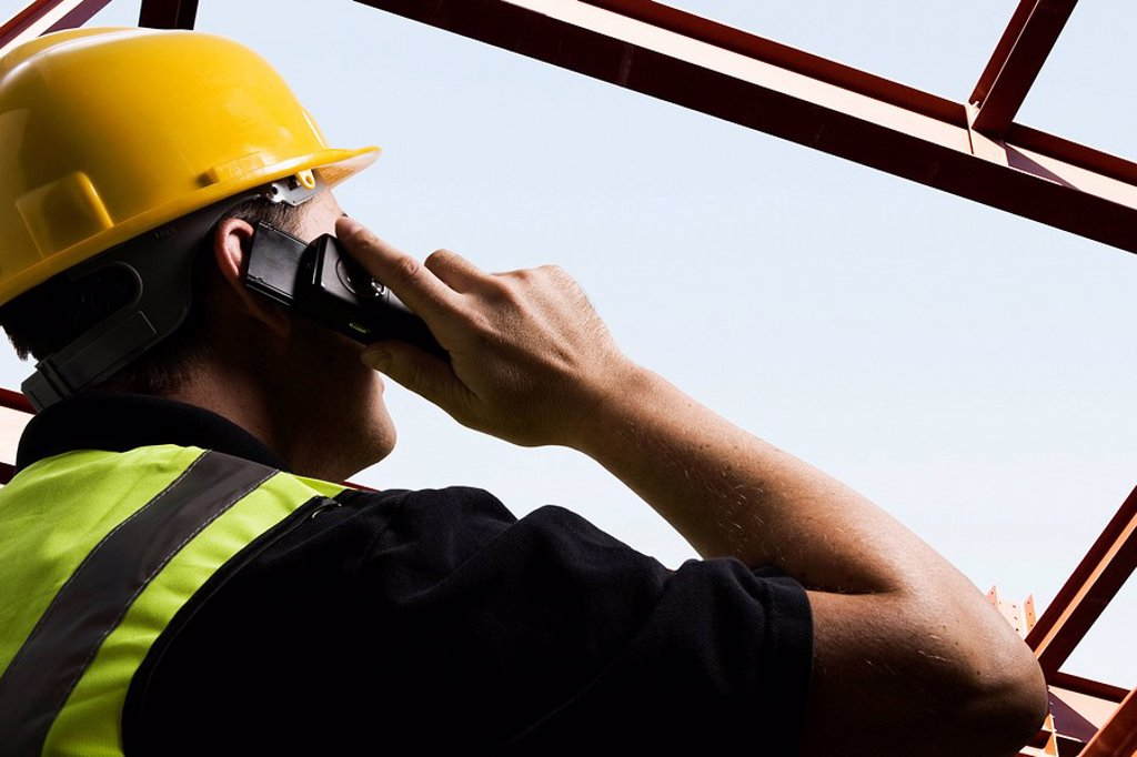 Stock Photo: 1773-27519 On site communication