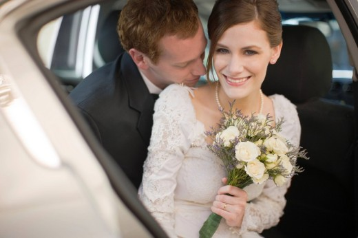 bride and groom before wedding : Stock Photo