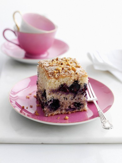 Close up of plate of fruit cake : Stock Photo