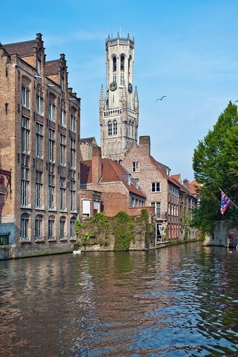 Buildings on village canal : Stock Photo