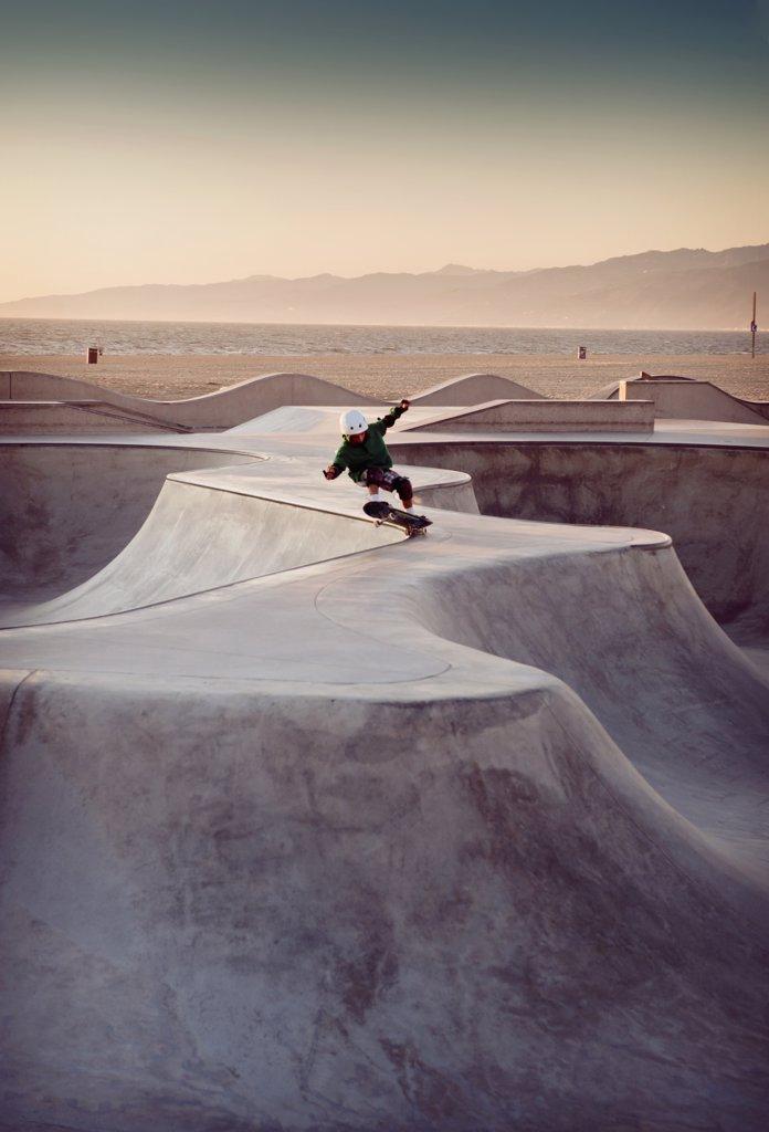 Venice beach skate park, Los Angeles, California : Stock Photo