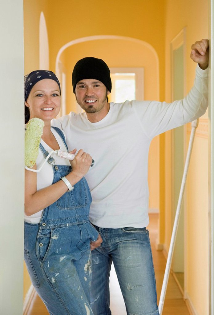 Stock Photo: 1773R-103954 Portrait of a man and woman painting