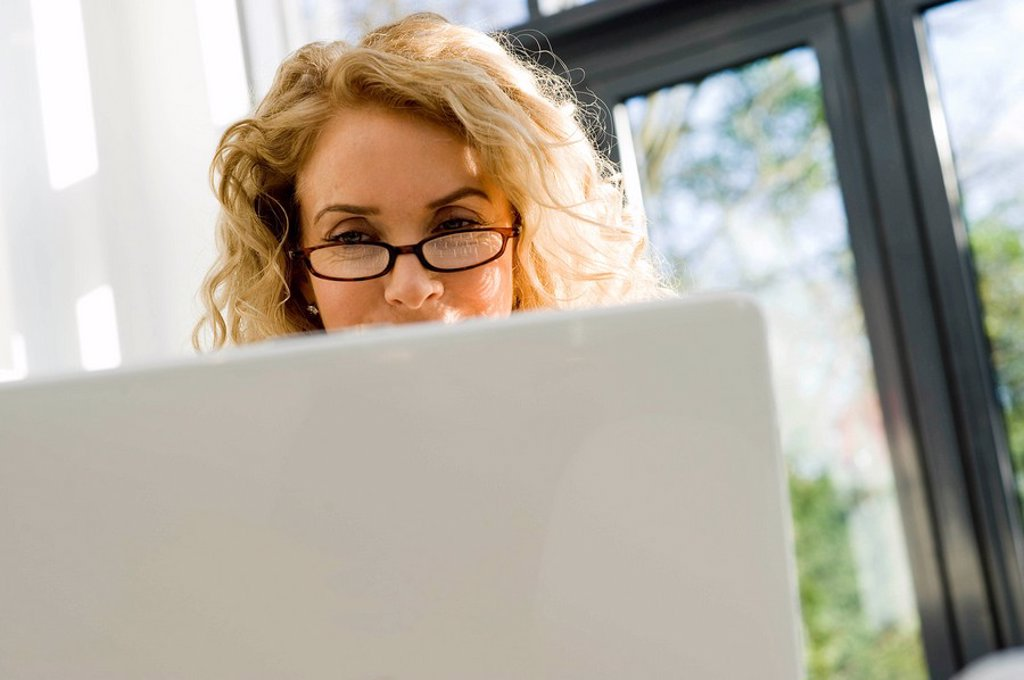 Stock Photo: 1773R-108029 Woman on the computer