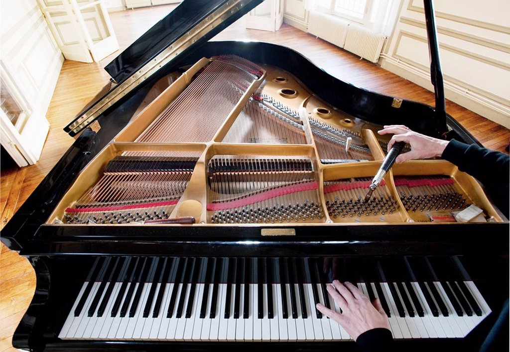 Piano being tuned : Stock Photo