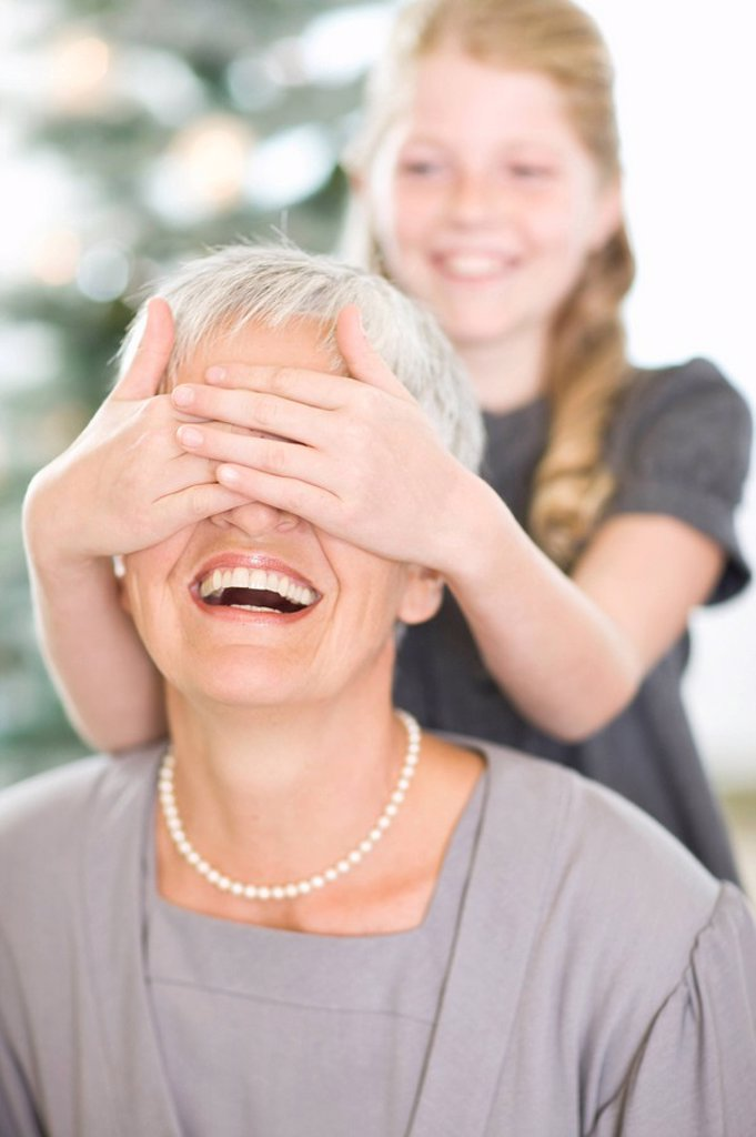 Stock Photo: 1773R-115508 Grandmother and girl
