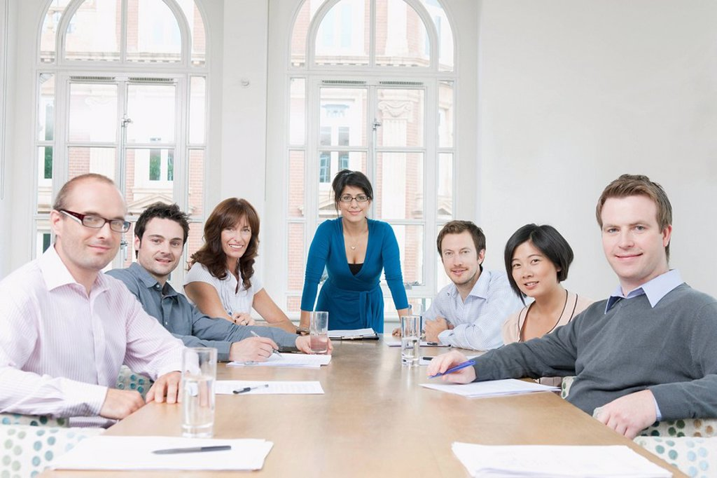 Stock Photo: 1773R-119884 Portrait of group at conference table
