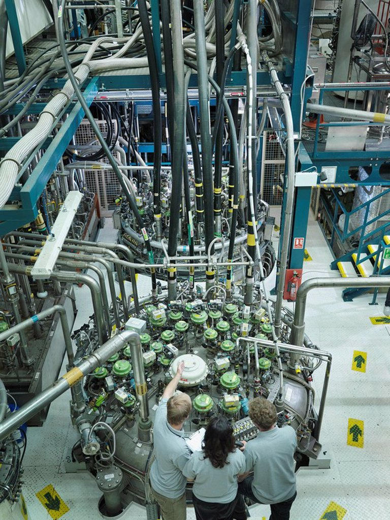 Stock Photo: 1773R-120122 Fusion Reactor Scientists At Work