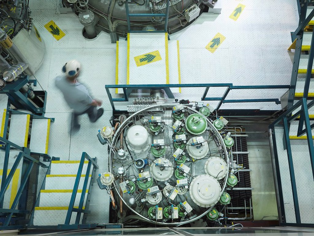 Fusion Reactor Scientist At Work : Stock Photo