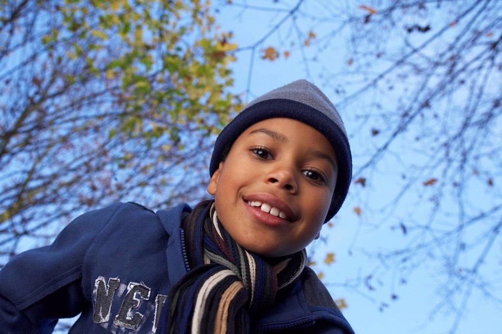 portrait of boy : Stock Photo