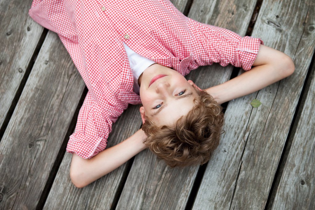 Stock Photo: 1773R-133277 Boy relaxing