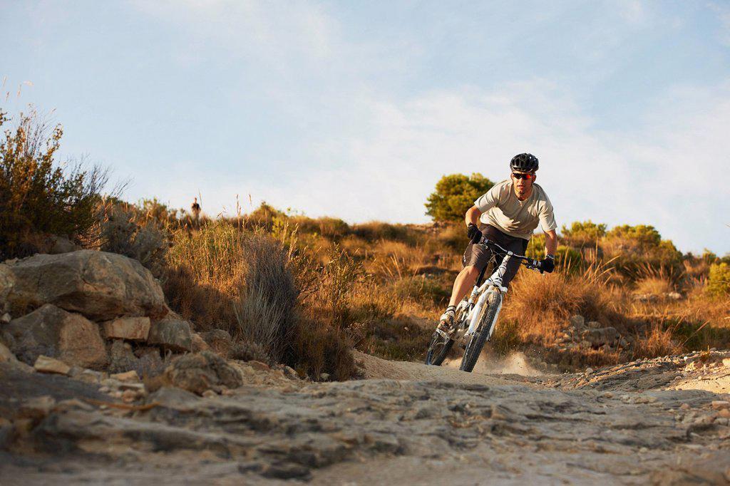 Stock Photo: 1773R-134503 Mountain Biking