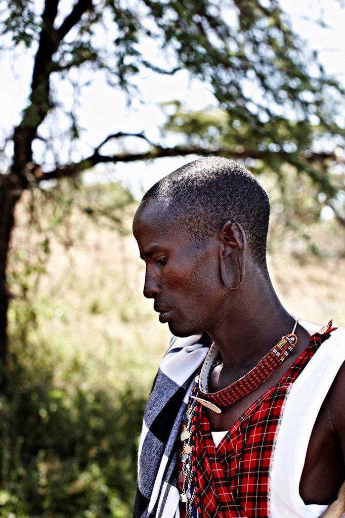 Stock Photo: 1773R-171928 Maasai man standing outdoors