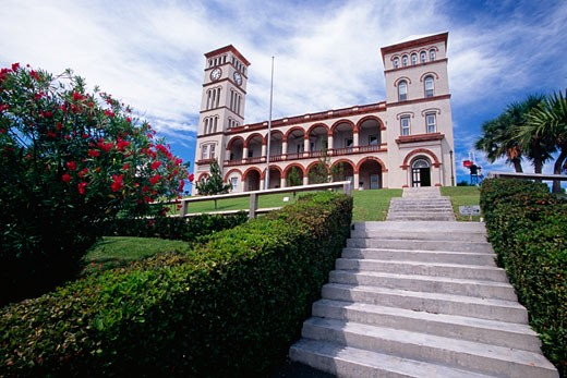 Low angle view of a courthouse, Bermuda Supreme Courthouse, Hamilton, Bermuda : Stock Photo