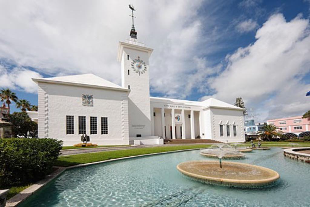 City Hall and Art Centre Building, Hamilton, Bermuda : Stock Photo