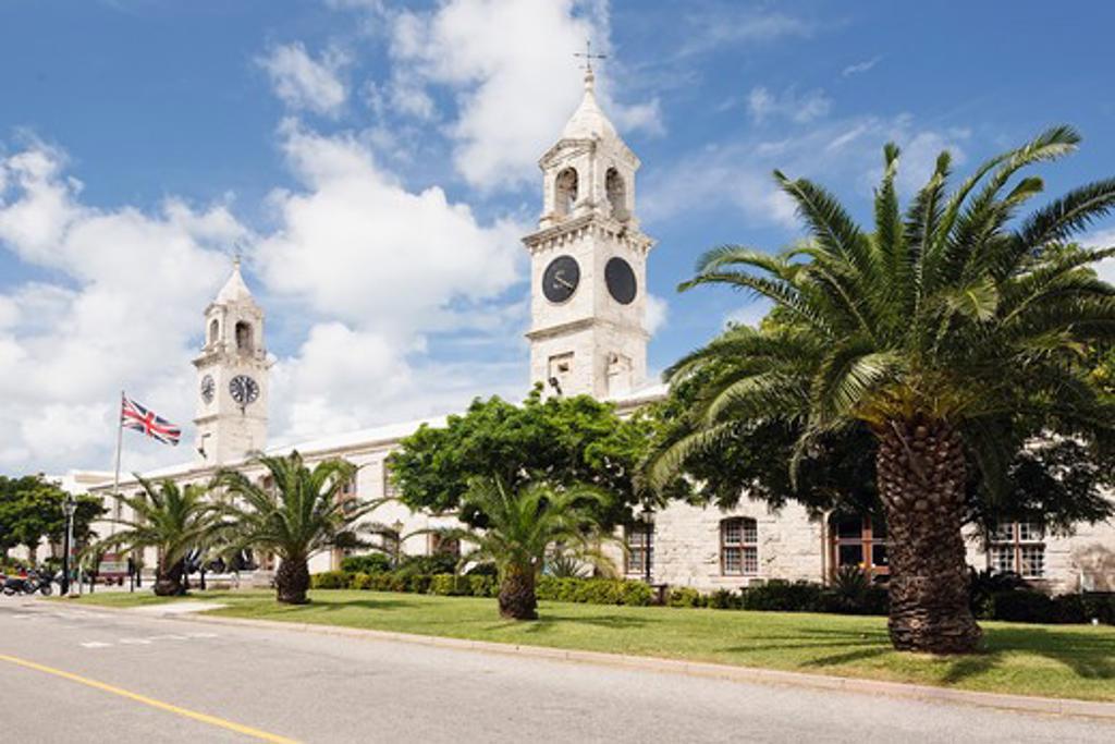 Stock Photo: 1774-400 Clock Towers of the Royal Naval Dockyard, Bermuda
