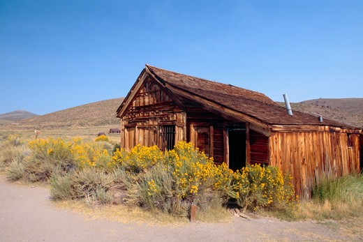 Stock Photo: 1774-427 Bodie Town Jail, Bodie State Historic Park, California, USA