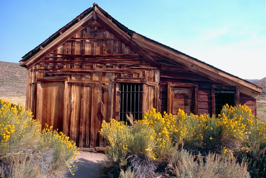 Stock Photo: 1774-428 Bodie Town Jail, Bodie State Historic Park, California, USA
