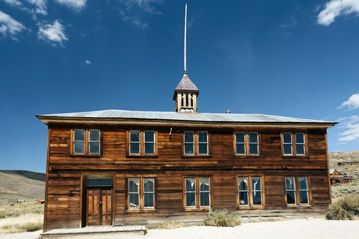School House of Bodie, Bodie State Historic Park, California, USA : Stock Photo