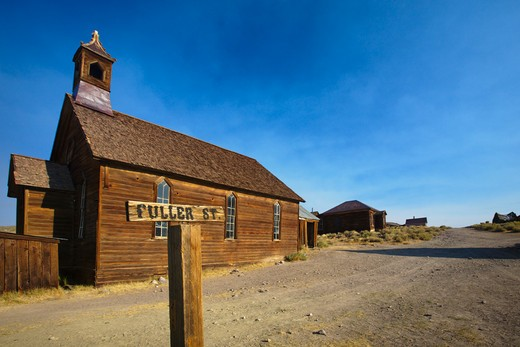 Church in Bodie Ghost Town, California, USA : Stock Photo