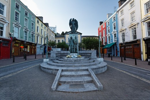 Stock Photo: 1774-666 Monument in a town, Lusitania Monument, Cobh, County Cork, Munster, Republic of Ireland