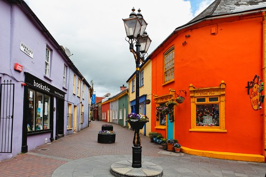 Stock Photo: 1774-668 Houses along a street, Kinsale, County Cork, Republic of Ireland