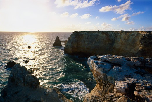 Rock formations in the sea, Cabo Rojo, Puerto Rico : Stock Photo