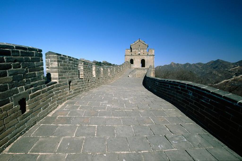 Stock Photo: 1774-675 Fortified wall, Great Wall Of China, Badaling, China