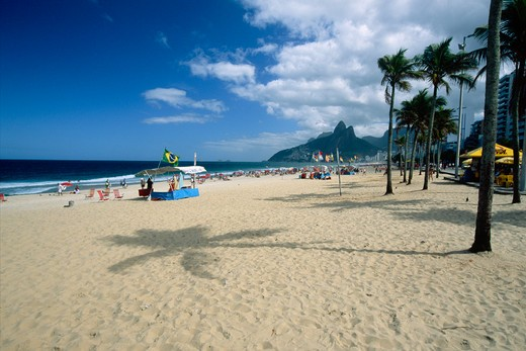Brazil, Rio de Janeiro, Ipanema Beach View : Stock Photo