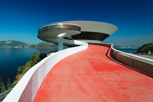 Brazil, Niteroi, Contemporary Art Museum : Stock Photo