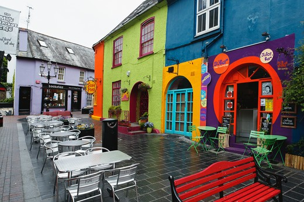 Stock Photo: 1774-706 Ireland, County Cork, Kinsale, Street Scene of Milk Market