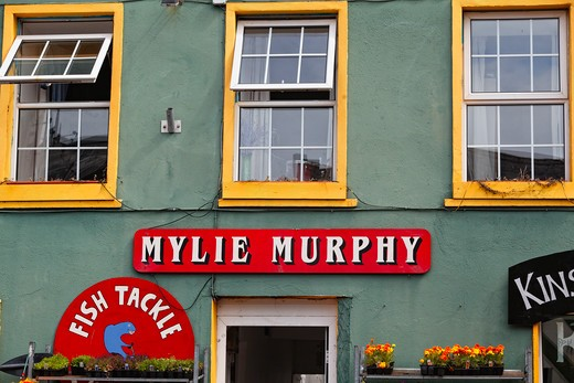 Ireland, County Cork, Kinsale, Colorful Store Signs : Stock Photo