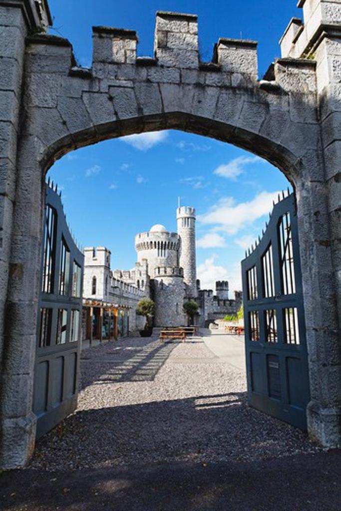Ireland, Cork, Entrance gate of Blackrock Castle : Stock Photo