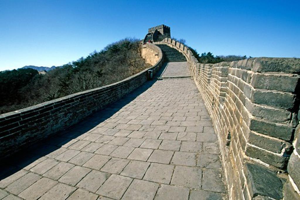 China, Badaling, Section of Great Wall of China : Stock Photo