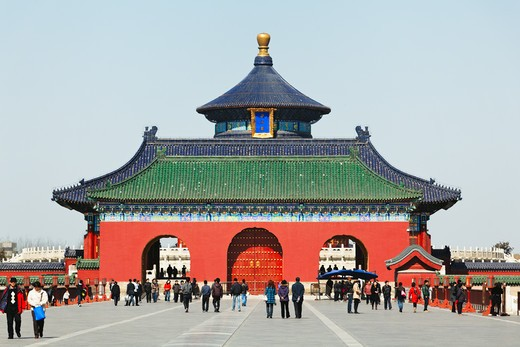 China, Beijing, Entrance Gate of Temple Of Heaven : Stock Photo