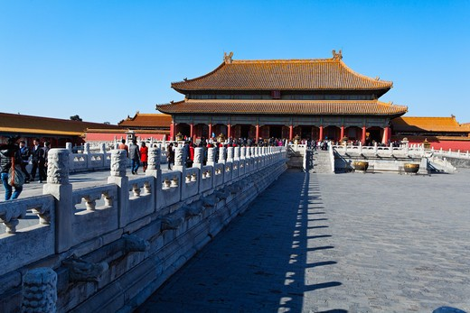 Stock Photo: 1774-729 China, Beijing, Forbidden City, Palace of Heavenly Purity,( Qianqing Palace)