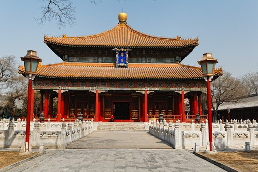 China, Beijing, Biyong Palace, Imperial College, Emperor's Lecture Hall : Stock Photo