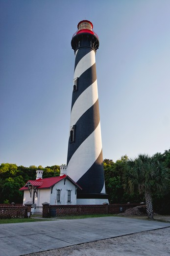 Stock Photo: 1774-774 USA, Florida, Low Angle Vertical View of St. Augustine Lighthouse