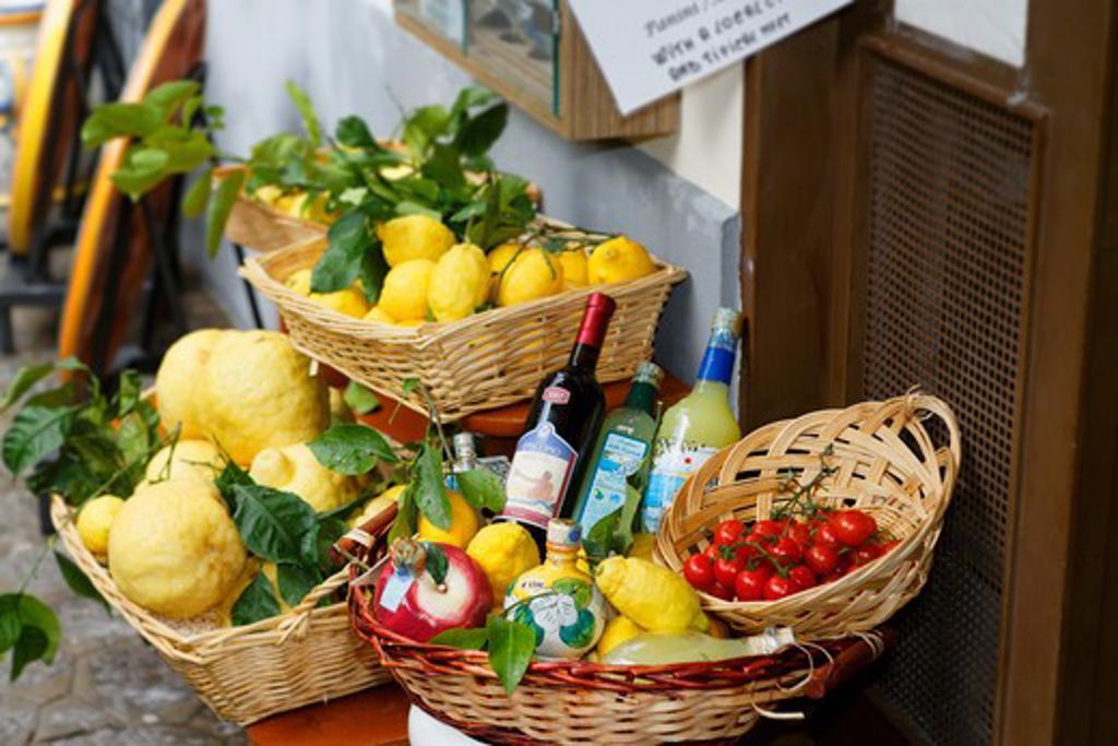 Stock Photo: 1774-784 Italy, Campania, Amalfi Coast, Amalfi, Display of Local Produce