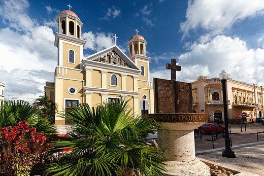 Stock Photo: 1774-813 Puerto Rico, Mayaguez, Low Angle View of Our Lady of Candelaria Cathedral