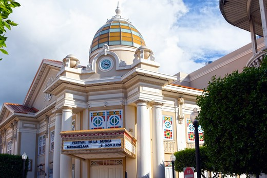 Stock Photo: 1774-814 Puerto Rico, Mayaguez, Low Angle View of Mayaguez Theater