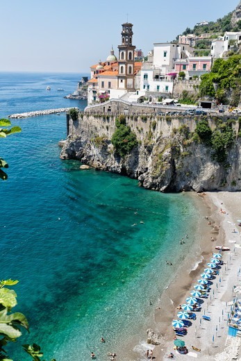 Stock Photo: 1774-828 Italy, Campania, View of beach of Amalfi