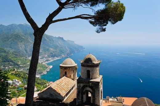 Stock Photo: 1774-831 Italy, Campania, Amalfi Coast at Ravello with Old Church (Chiesa della SS. Annunziata)