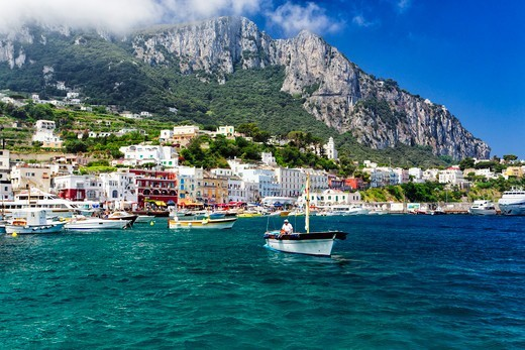 Italy, Capri, Marina Grande : Stock Photo
