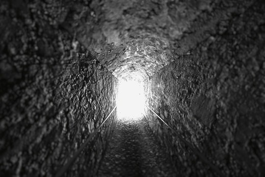 Stock Photo: 1774R-644 Light at end of tunnel
