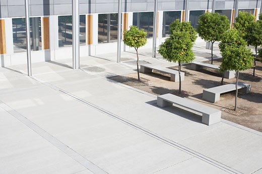 Office building courtyard : Stock Photo