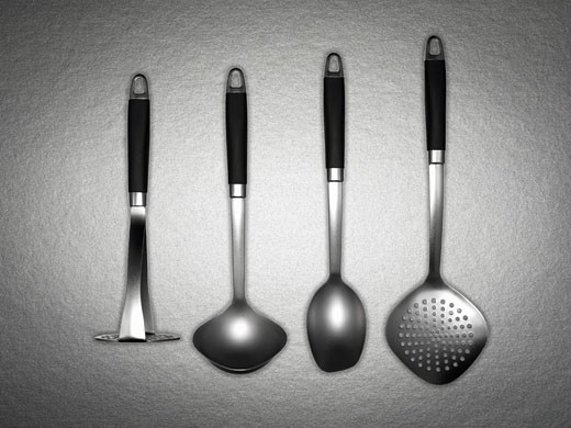 Stock Photo: 1775R-12849 Assorted set of kitchen utensils