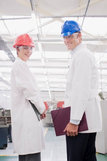 Stock Photo: 1775R-15567 Workers in lab coats in laboratory
