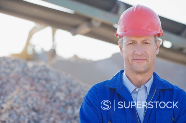 Stock Photo: 1775R-15631 Construction worker in hard_hat on construction site