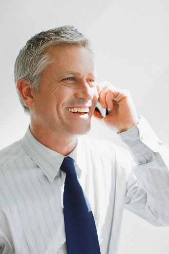 Stock Photo: 1775R-19923 Businessman talking on cell phone
