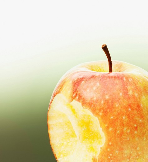 Stock Photo: 1775R-21162 Close up of bite in red apple